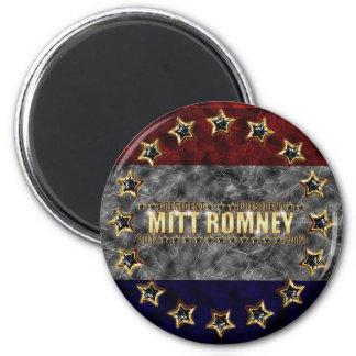 Estrellas y rayas de Mitt Romney Imán Redondo 5 Cm