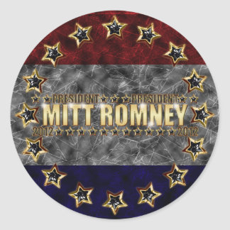 Estrellas y rayas de Mitt Romney Pegatina Redonda