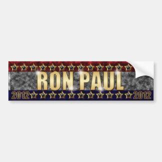 Estrellas y rayas de Ron Paul Etiqueta De Parachoque