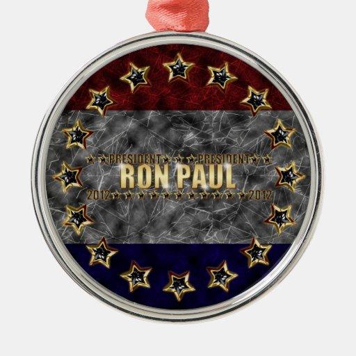 Estrellas y rayas de Ron Paul Ornamento Para Arbol De Navidad