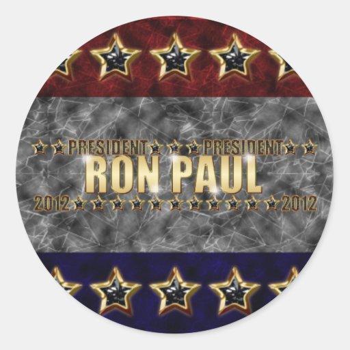 Estrellas y rayas de Ron Paul Pegatina