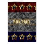 Estrellas y rayas de Ron Paul Tarjetón