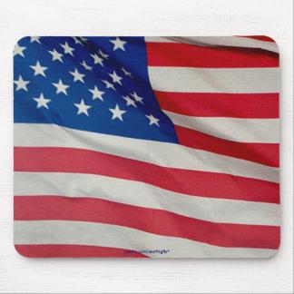 Estrellas y rayas Mousepad patriótico de la
