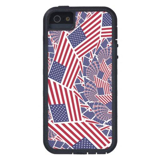 Estrellas y rayas para siempre iPhone 5 funda