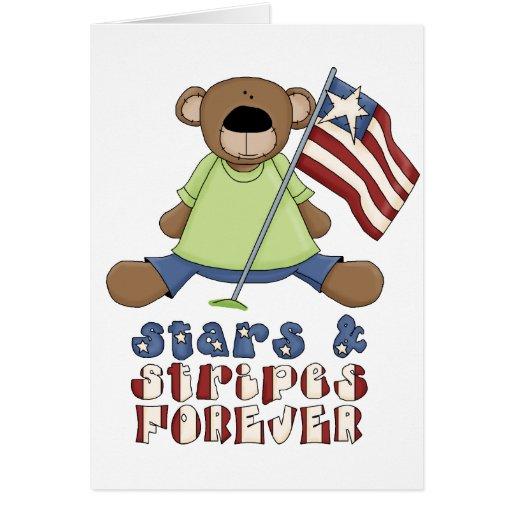 Estrellas y rayas para siempre tarjetas
