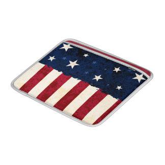 Estrellas y rayas patrióticas funda macbook air