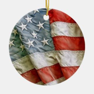 Estrellas y rayas viejas de la gloria ornamento para arbol de navidad