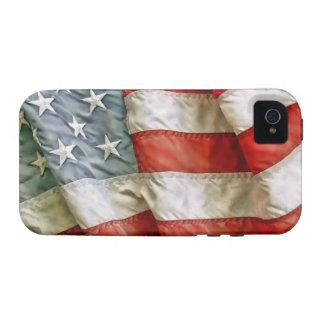 Estrellas y rayas viejas de la gloria iPhone 4 funda