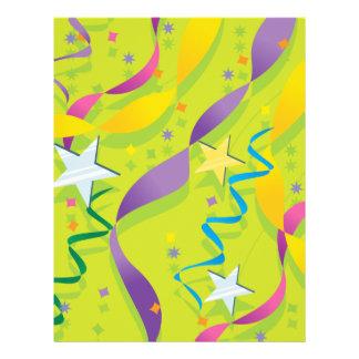 Estrellas y regalos de las flámulas tarjetas publicitarias