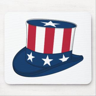 Estrellas y sombrero de copa Mousepad de las rayas
