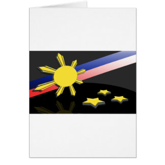Estrellas y Sun Tarjeta De Felicitación