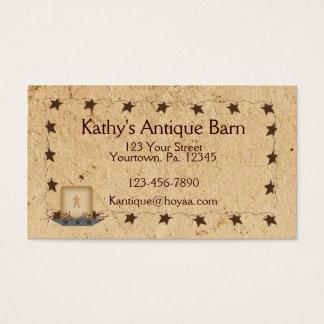Estrellas y tarjeta de visita oxidadas de la vela