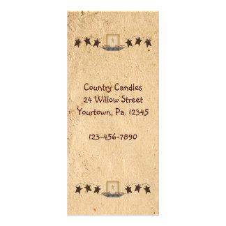 Estrellas y tarjeta oxidadas del estante de la vel tarjeta publicitaria personalizada
