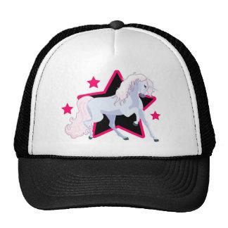 Estrellas y un unicornio gorras