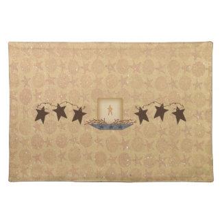 Estrellas y vela oxidadas Placemat Manteles