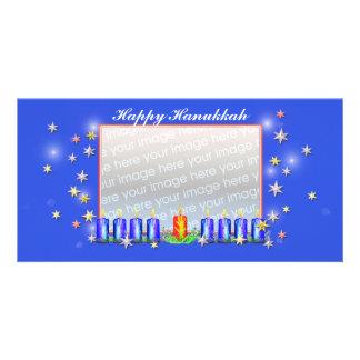 Estrellas y velas felices de Jánuca Tarjetas Personales