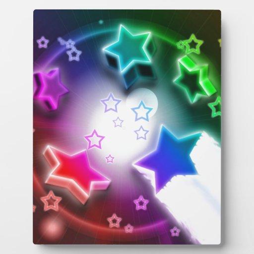 Estrellato azul placa para mostrar