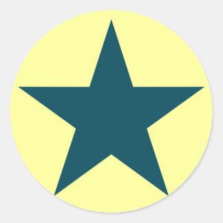 Estrellato (trullo) pegatinas redondas