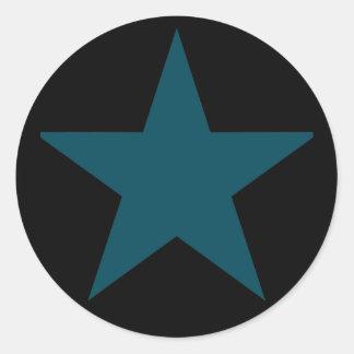 Estrellato (trullo) etiquetas redondas