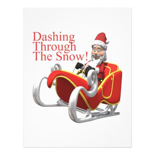 Estrellazo a través de la nieve flyer personalizado
