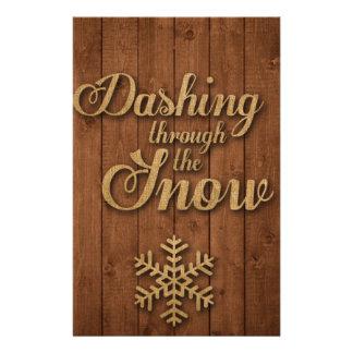 Estrellazo a través de la nieve personalized stationery