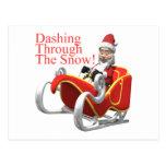 Estrellazo a través de la nieve tarjetas postales