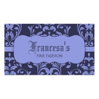 Estrellazo del damasco en lavanda y púrpura tarjetas de visita