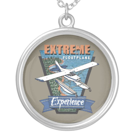 Estreme Floatplane Experience Silver Plated Necklace