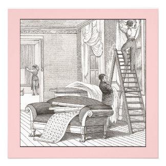 Estreno de una casa del Victorian del vintage/casa Invitacion Personal