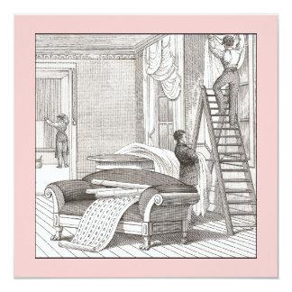 """Estreno de una casa del Victorian del vintage/casa Invitación 5.25"""" X 5.25"""""""