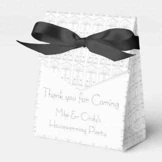 Estreno de una casa negro y blanco de la casa caja para regalos
