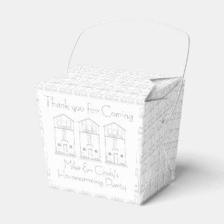 Estreno de una casa negro y blanco de la casa caja para regalos de fiestas
