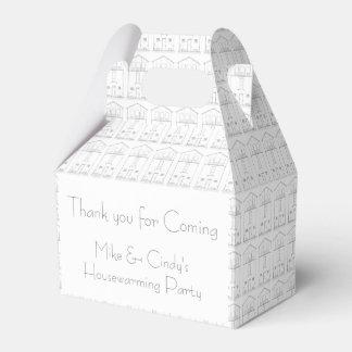 Estreno de una casa negro y blanco de la casa cajas para regalos de boda