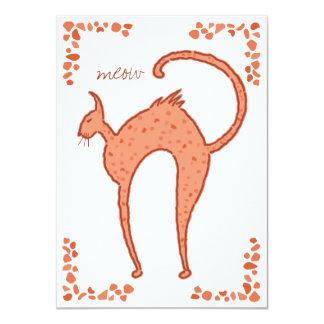 Estribillo Backfence 4.5x6.25 del gato Invitación 11,4 X 15,8 Cm