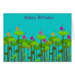 Estribillo del feliz cumpleaños felicitacion