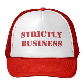 Estrictamente gorra del negocio