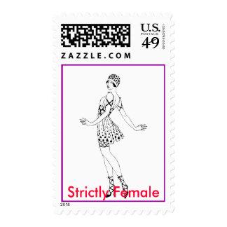 Estrictamente hembra 3 sello postal