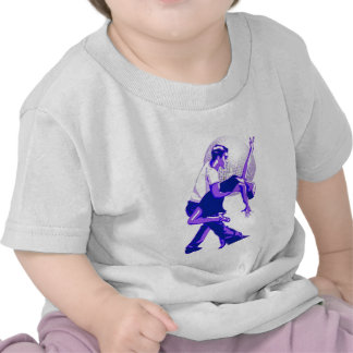 Estrictamente sombras del azul de la salsa camiseta