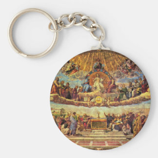 Estrofa Della Signatura en el Vatican para papa ju Llavero Redondo Tipo Pin