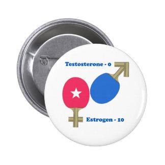 Estrogen Ping Pong Pinback Button