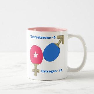 Estrogen Ping Pong Two-Tone Coffee Mug