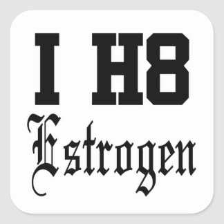 estrogen square sticker