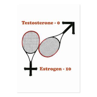Estrogen Tennis Large Business Cards (Pack Of 100)