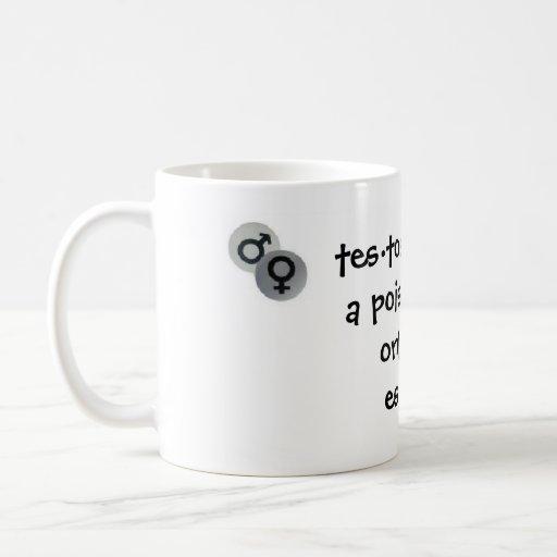 Estrógeno contra la testosterona taza de café