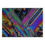 Estroncio debajo del microscopio tarjeta
