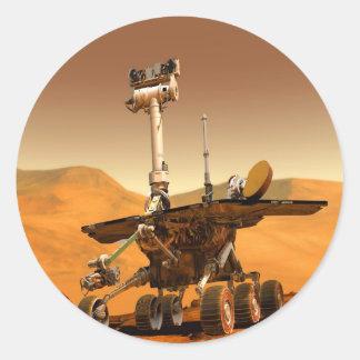 estropea el robot de Rover del viaje espacial Pegatinas Redondas