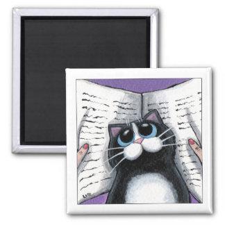 Estropeando la visión - imán del gato