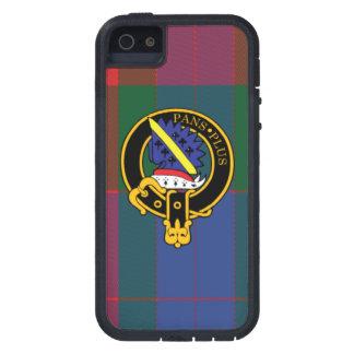 Estropee caso del iPhone escocés 5 5S del escudo y