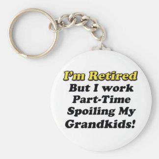 Estropeo de mis Grandkids Llavero Redondo Tipo Pin