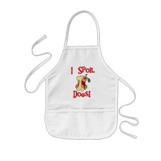 Estropeo las camisetas y los regalos de los perros delantal infantil